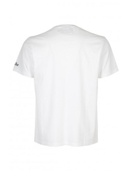 Saint Barth MC2 checker01 Bambino Tshirt White T-Shirt Estate
